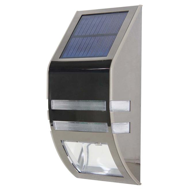"""Solar LED Wall Sconce Light - 2 LEDs - 2"""" - 2 Pack"""