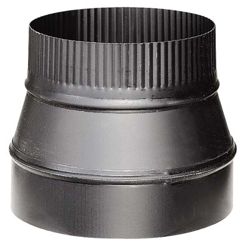 Stove Pipe Reducer - 7'' x 6'' - 24-Gauge - Black