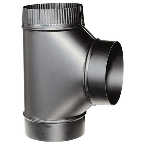 Steel Assembled Tee - 6'' - 24-Gauge - Black