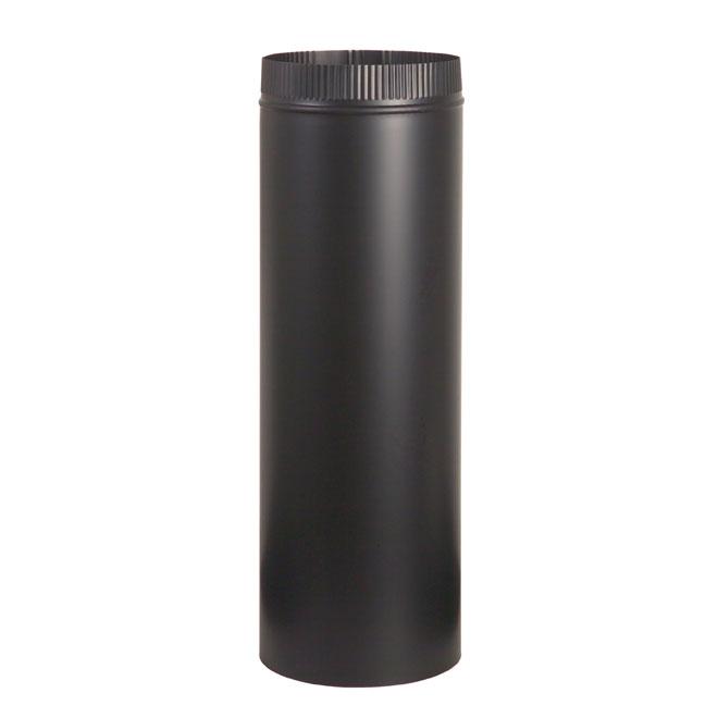 "Steel Pipe for Wood Stove -  7"" x 18"" - 24-Gauge - Black"