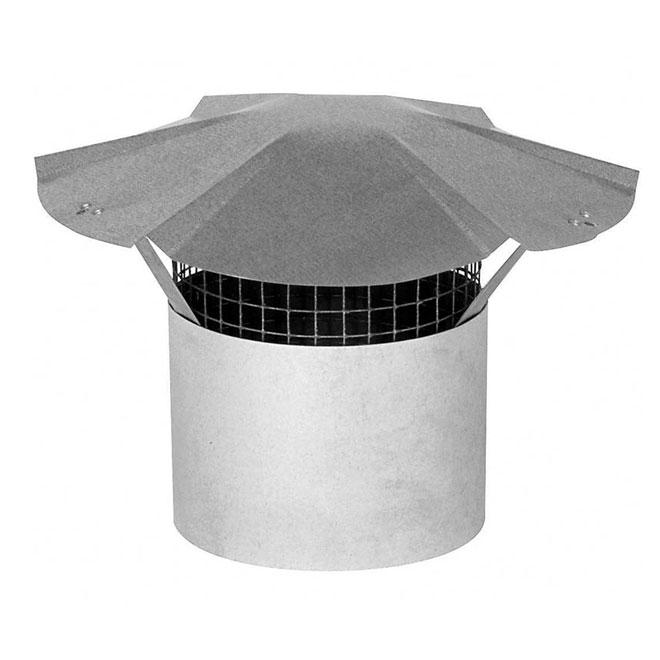 """Chapiteau de cheminée en acier galvanisé de 7"""""""