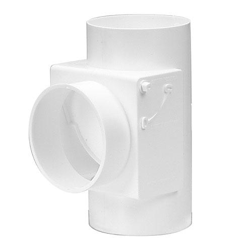 """Récupérateur de chaleur avec filtre en plastique blanc 4"""""""