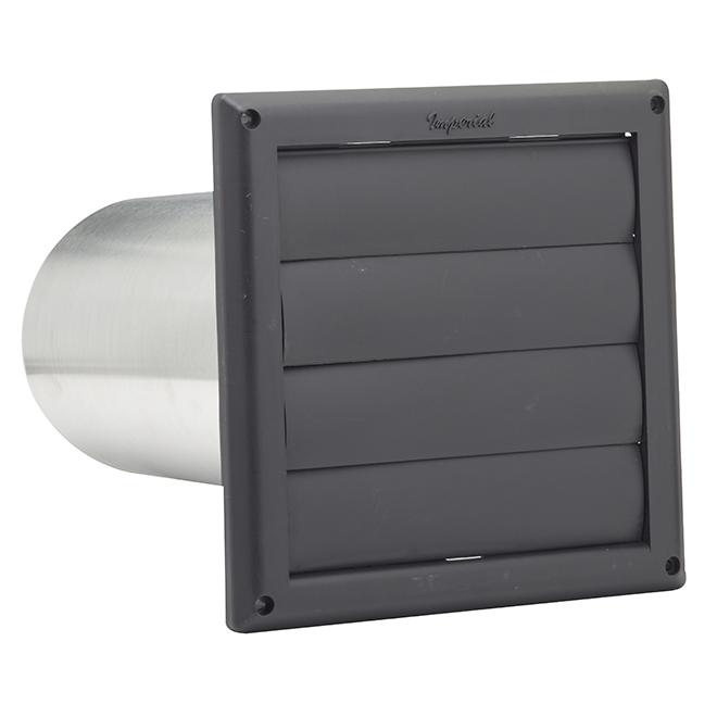 "Évent de ventilation à volets avec tuyau d'aluminium de 6"""