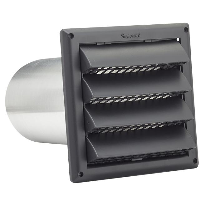 """Évent d'entrée d'air à volet avec tuyau d'aluminium de 6"""""""