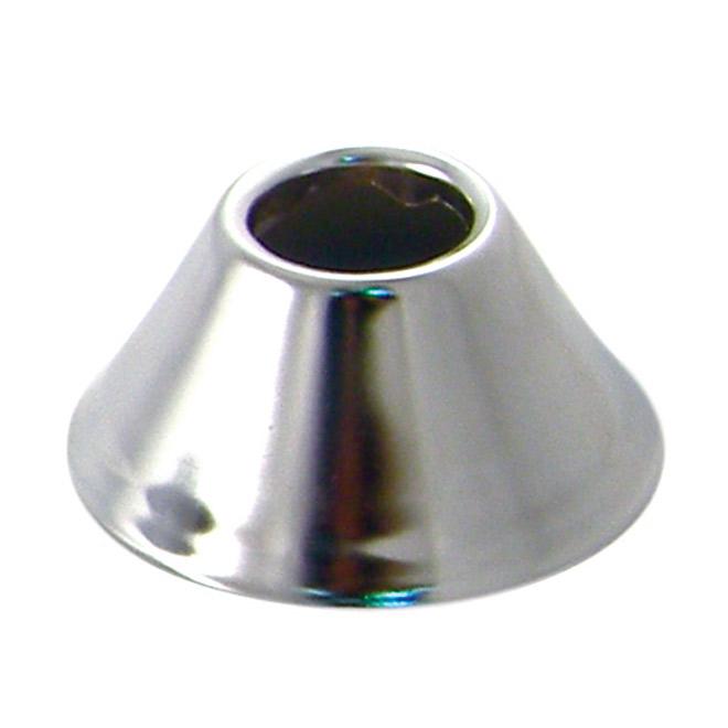 """Deep Pipe Flange - 1/2"""" - Polished Chrome"""