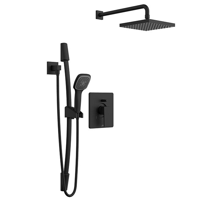 Quadrato Hand Shower Rail Kit - Black Matte