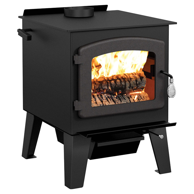 Poêle à bois en acier, 90 000 BTU/h, 900 - 2 100 pi², noir