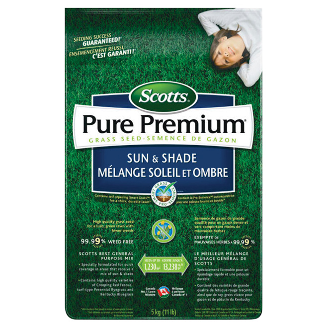 """Grass Seed - 5 kg """"Sun and Shade"""" Grass Seed"""