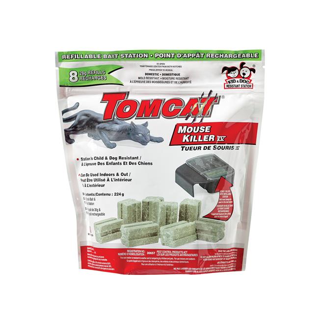 Recharge pour piège à souris «Tomcat» - 8 Recharges