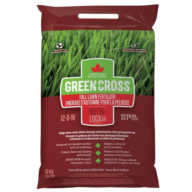 Engrais à pelouse pour l'automne, 12-0-18, 13,2 lb