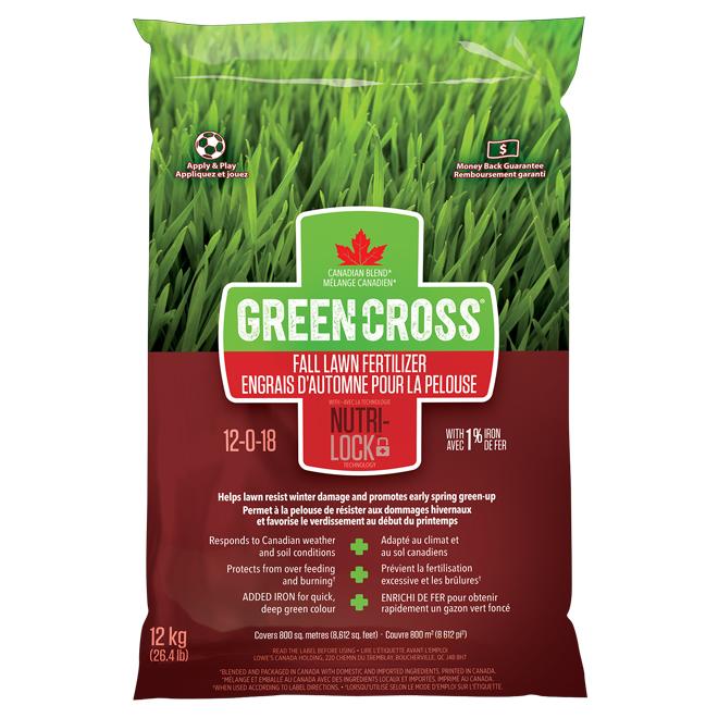 Fall Lawn Fertilizer - 12-0-18 - 26.4 lb