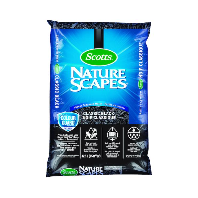 Paillis Nature Scapes de Scotts, 42,5 l, noir classique