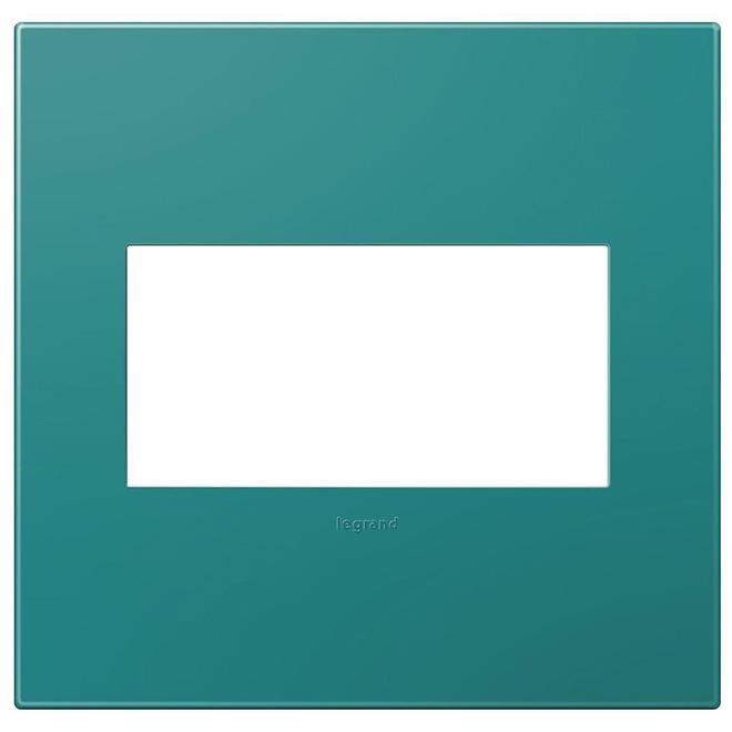 Wall Plate - 2-Gang - Plastic - Blue
