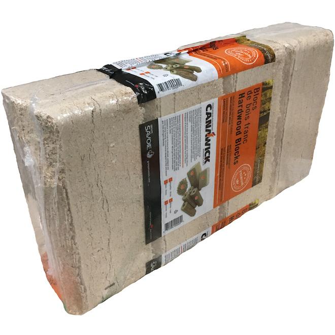 Wood Fibers Firelog, Long Lasting, 4-Pack