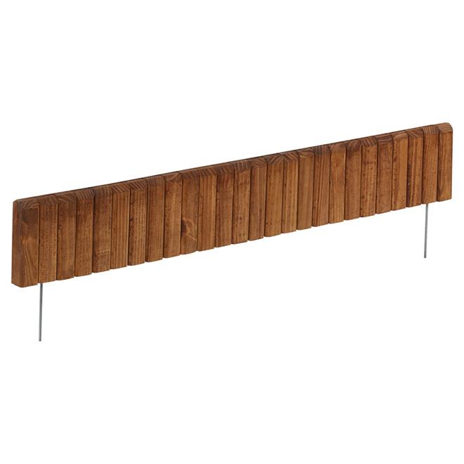 Bordure de jardin en bois brun naturel Redy-Edge, section de 3 pi