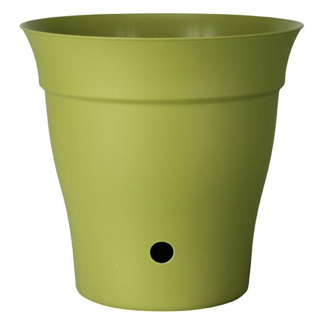 """Contempra"" Pot with inside saucer - Green"