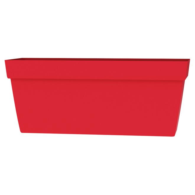 """Rectangular Viva Planter - 24"""" - Plastic - Flat Red"""