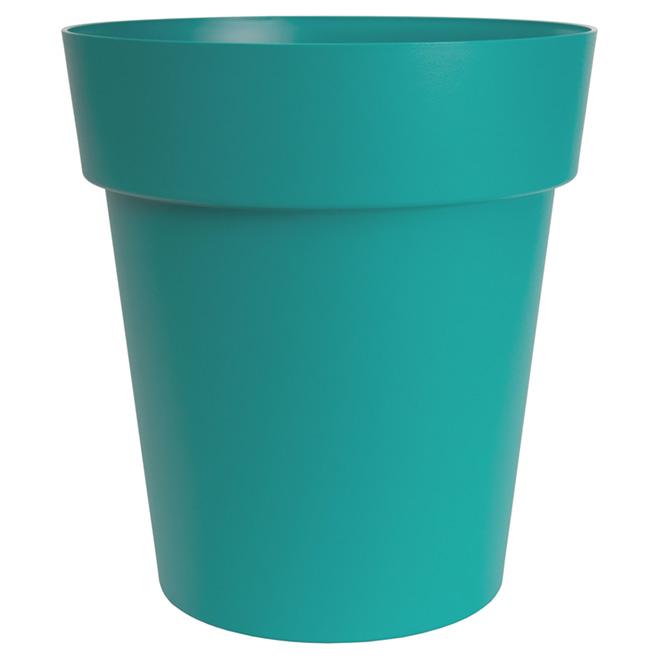 "Round Viva Planter - 17"" - Plastic - Flat Blue"