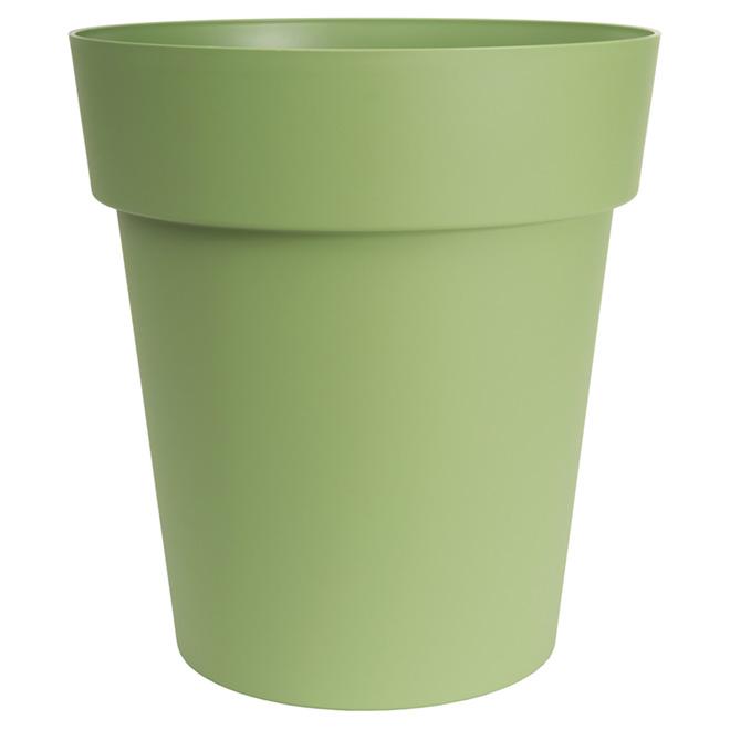 """Jardinière Viva ronde, 17"""", plastique, vert mat"""