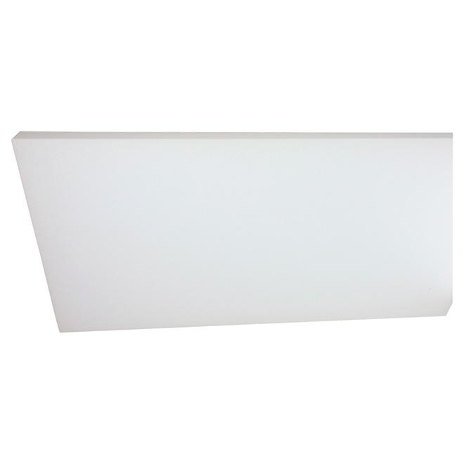"""Panneau isolant PSE de Type I, 1 1/2"""" x 4' x 8', blanc"""