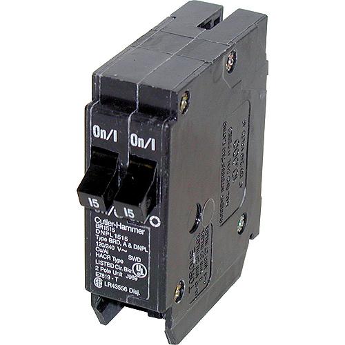 120 VAC 15-15 A DNPL Circuit Breaker 1-1 Pole Plug-In