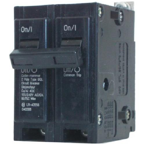 Disjoncteur QBH à boulons 120/140 VAC 60 A 2 pôles