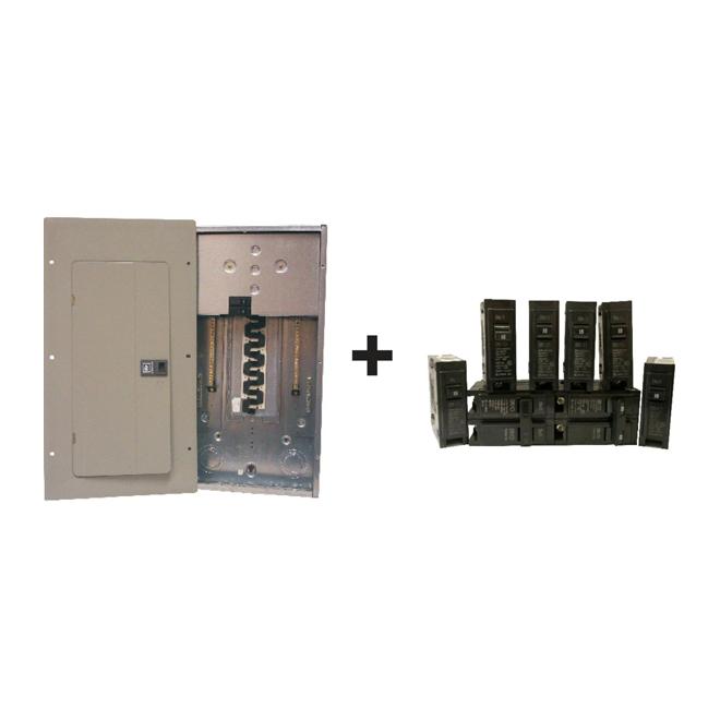 Panneau électrique complet «EZ Pack» 100-A/20 espaces