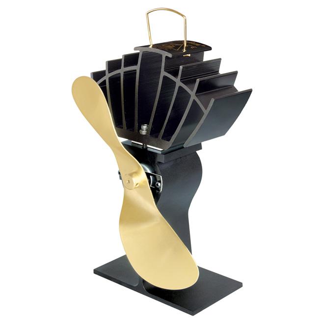 Ventilateur pour poêle et foyer, doré