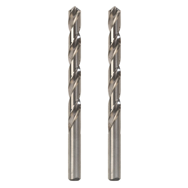 """High-Speed Standard Fractional Drill Bit - 3/32"""" - 2-Pack"""