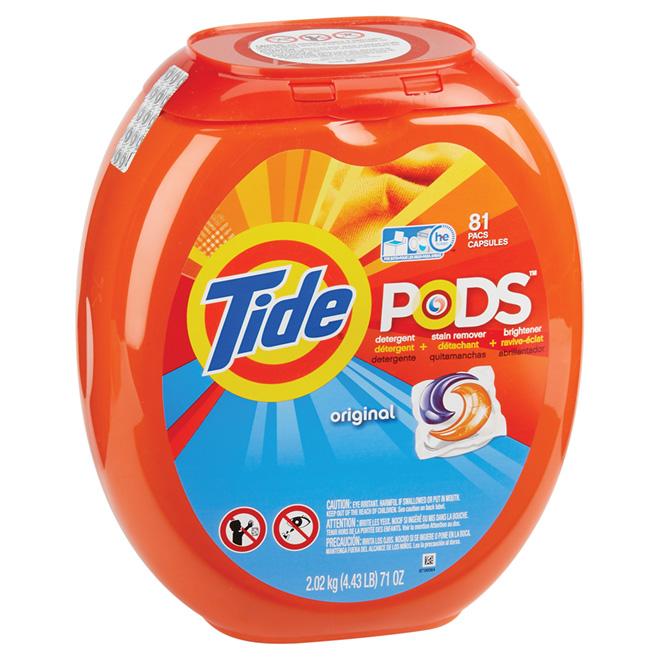 Laundry Detergent - Tide PODS - Original - 81 Units