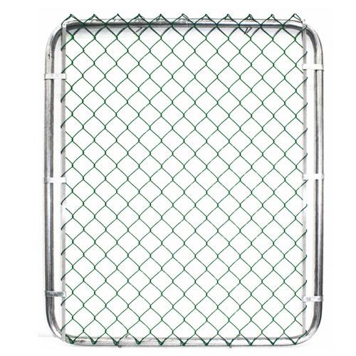Portail de clôture à mailles métalliques, 60 x 42 po