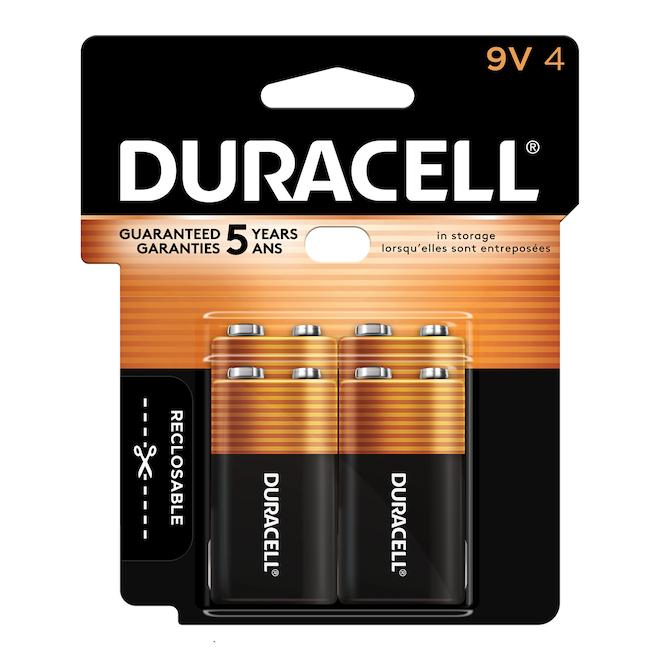 Paquet de 4 piles 9-V