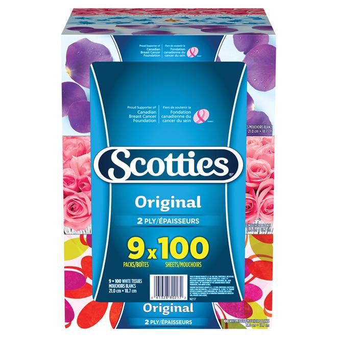 Papier-mouchoir Scotties, paquet de 9