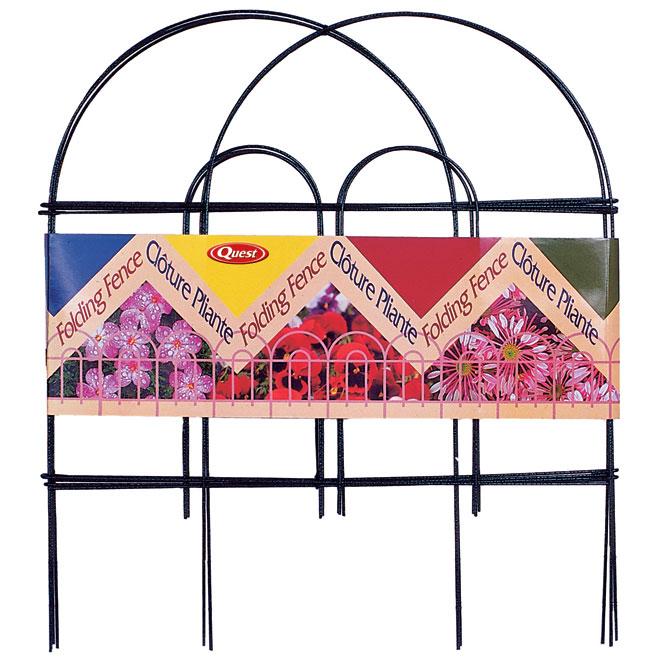 "Decorative Steel Wire Folding Fence - 24"" x 8' - Bronze"