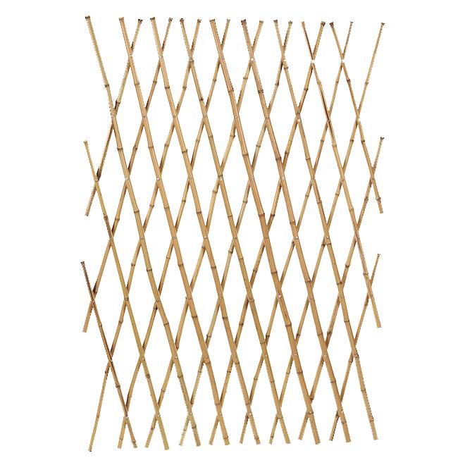 Clôture décorative en bambou, 4' x 6', naturel