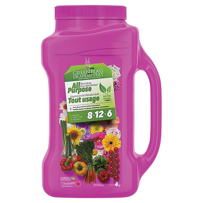 Slow release all purpose granular fertilizer - 8-12-6 - 4 Kg