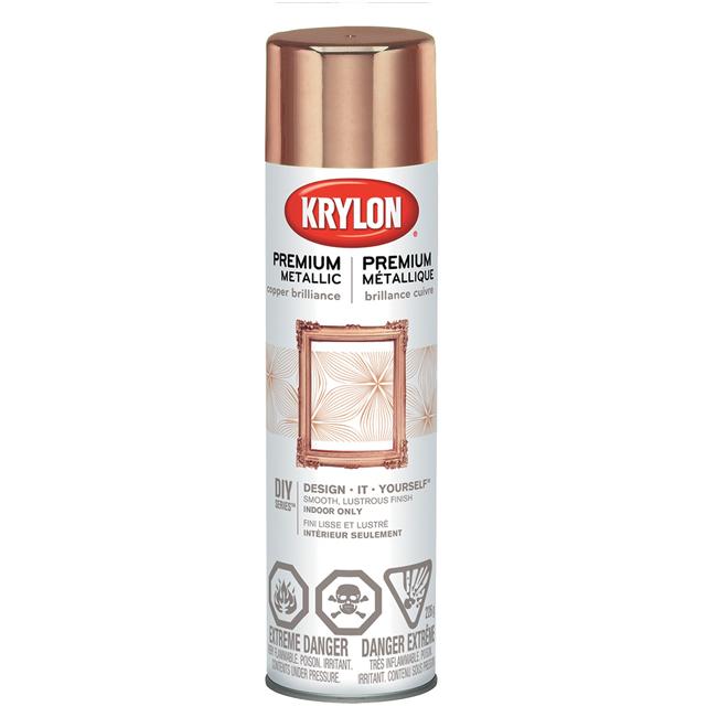 Peinture aérosol métallique « Premium », cuivre brillant