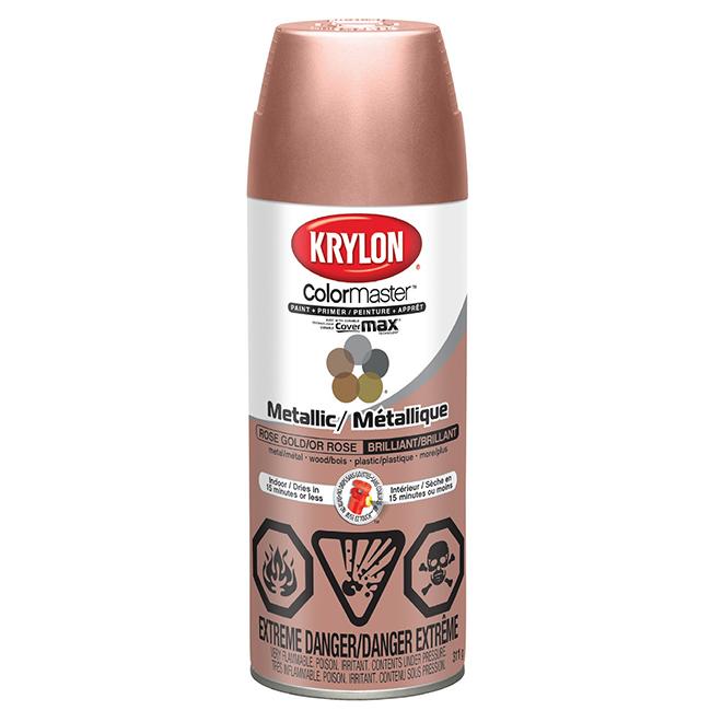 Krylon Metallic Spray Paint And Primer 312 G Rose Gold