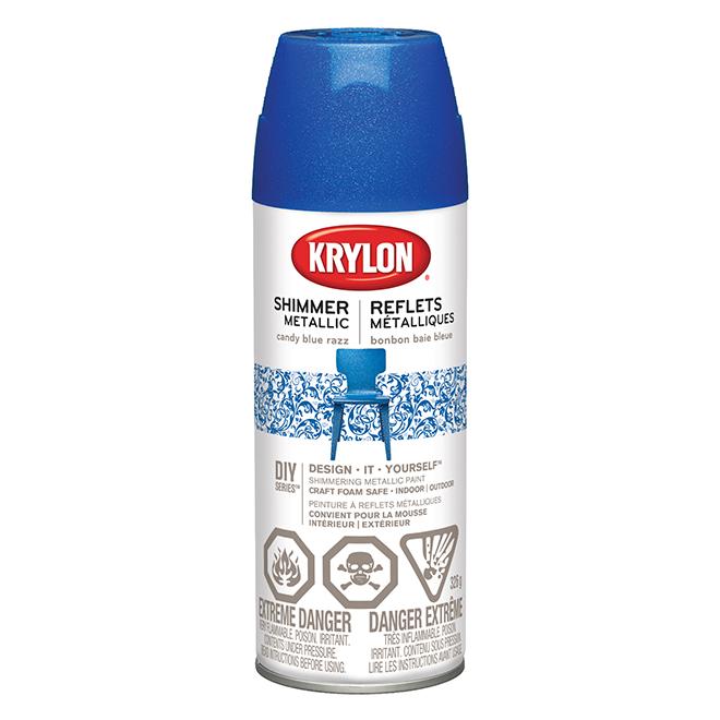 Krylon Metallic Spray Paint 326 G Candy Blue Raspberry