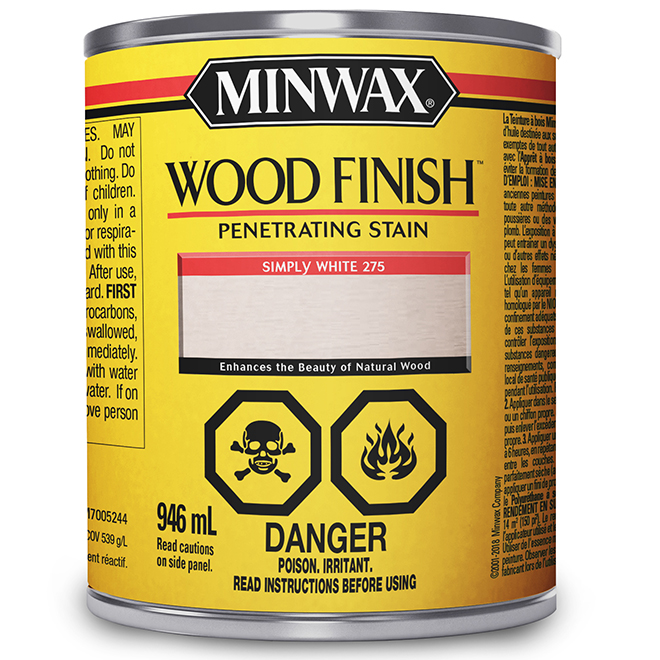 Oil-Base Wood Stain - White - 946 ml