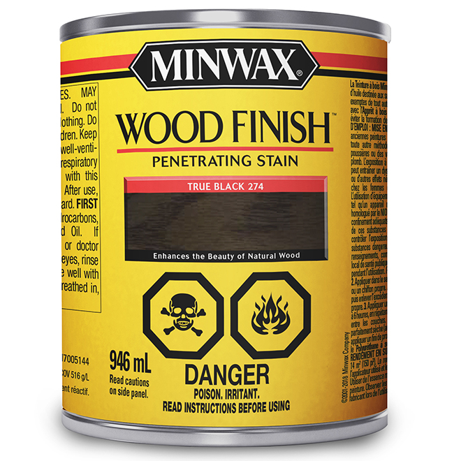 Oil-Base Wood Stain - Black - 946 ml