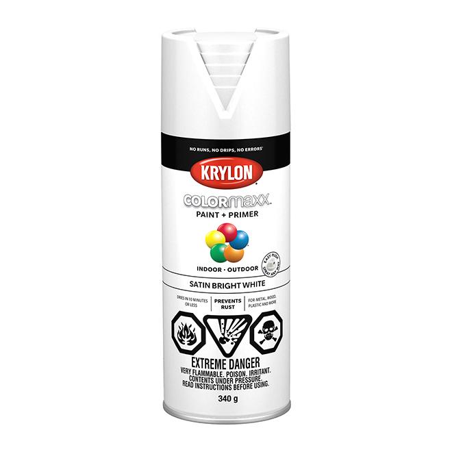 Krylon Paint and Primer - Colormaxx - 340 g - Bright White