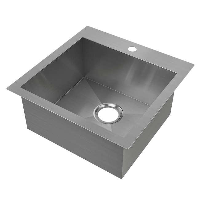 "Odyssey Single Sink - Stainless Steel - 20.5"" x 20.5"""