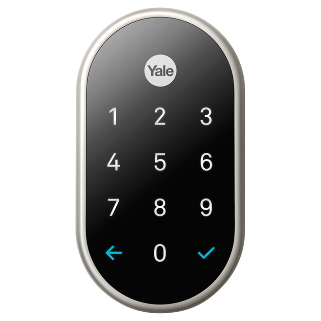 Nest X Yale Smart Lock - Satin Nickel and Black