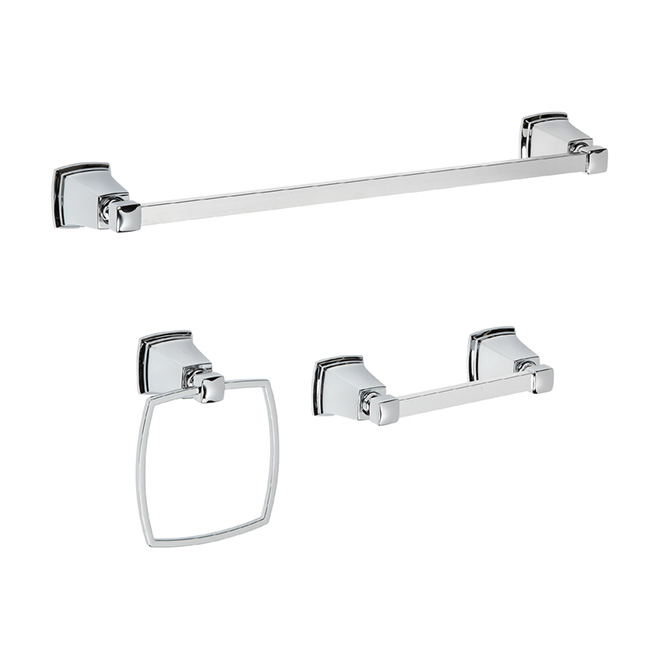 U Boardwalk 3Piece Bathroom Accessory Set  Chrome