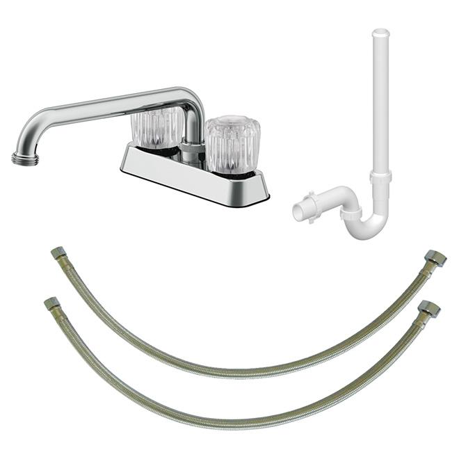 2-Handle Laundry Faucet - Chrome
