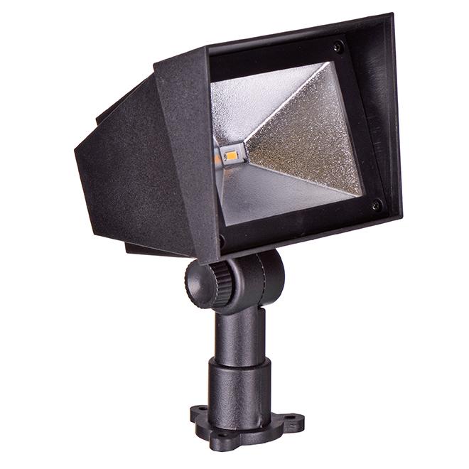 Sterno Home(TM) Solar Spotlight - LED - 15 Lumens - Black