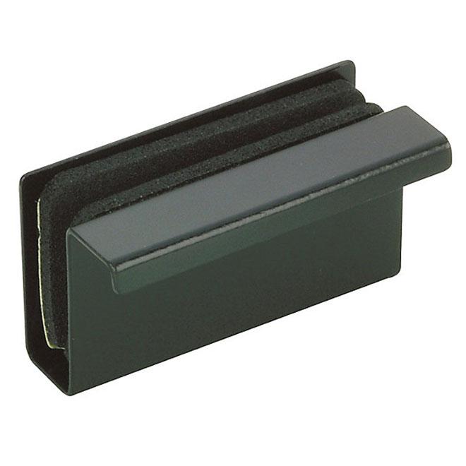 Glass Door Latch Plate - 40 mm - Black