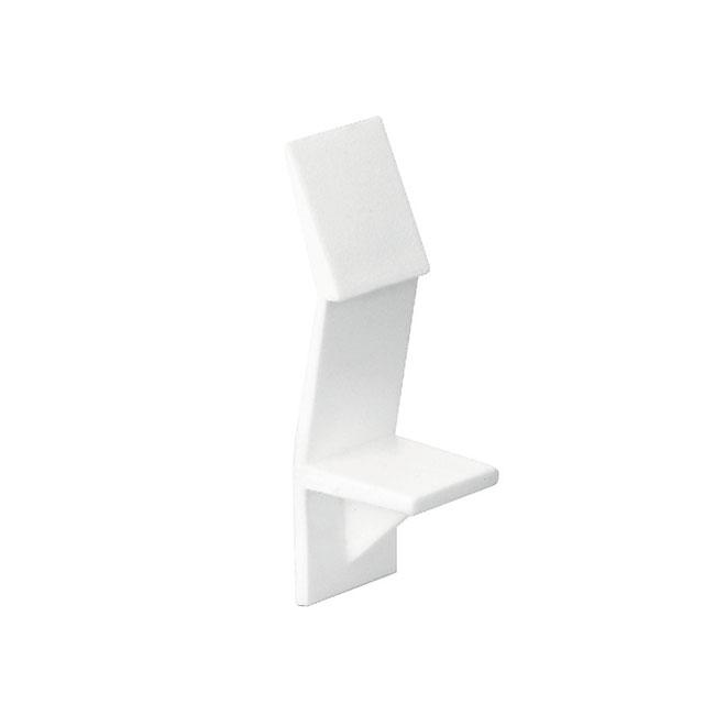 "Support à tablette, 1/4"", blanc, 8/pqt"