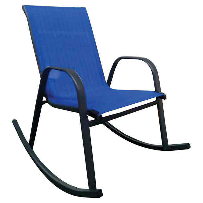 Chaise berçante de patio, bleu royal